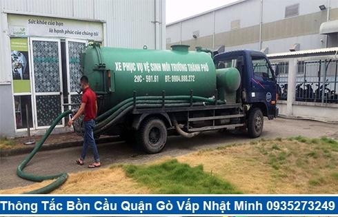 Cam kết nhận hút hầm cầu tại Quận Gò Vấp nhanh sạch 99%
