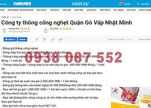 Thông cầu cống nghẹt Quận Gò Vấp giá rẻ bảo hành 28 tháng