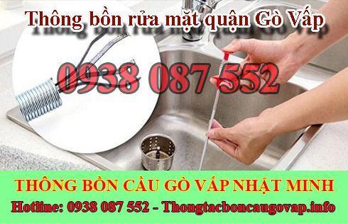 Thông bồn rửa mặt quận Gò Vấp giá rẻ bảo hành 2 năm