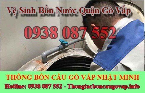 Vệ sinh bồn nước quận Gò Vấp có xử lý tại nhà được không?