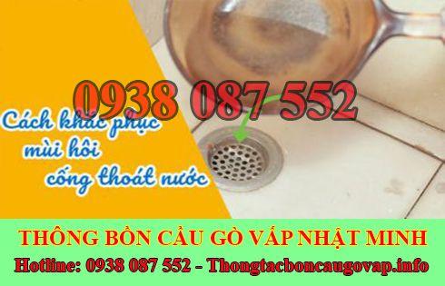 Xử lý mùi hôi bồn cầu toilet nhà vệ sinh Quận Gò Vấp Nhật Minh.