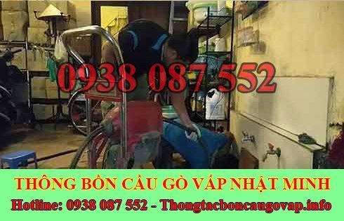 Số điện thoại thông bồn cầu Quận Gò Vấp giá rẻ 0938087552