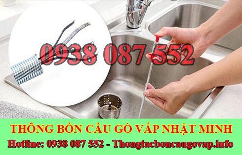 Thợ thông tắc bồn rửa mặt lavabo Quận Gò Vấp 0938087552