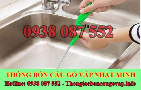 thông tắc nghẹt bồn rửa chén bát bồn rửa mặt lavabo Quận Gò Vấp